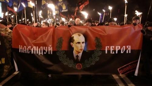 Несколько тысяч человек вышли в Киеве на шествие в честь Бандеры