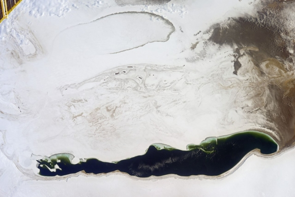 Опубликован новый снимок Аральского моря из космоса