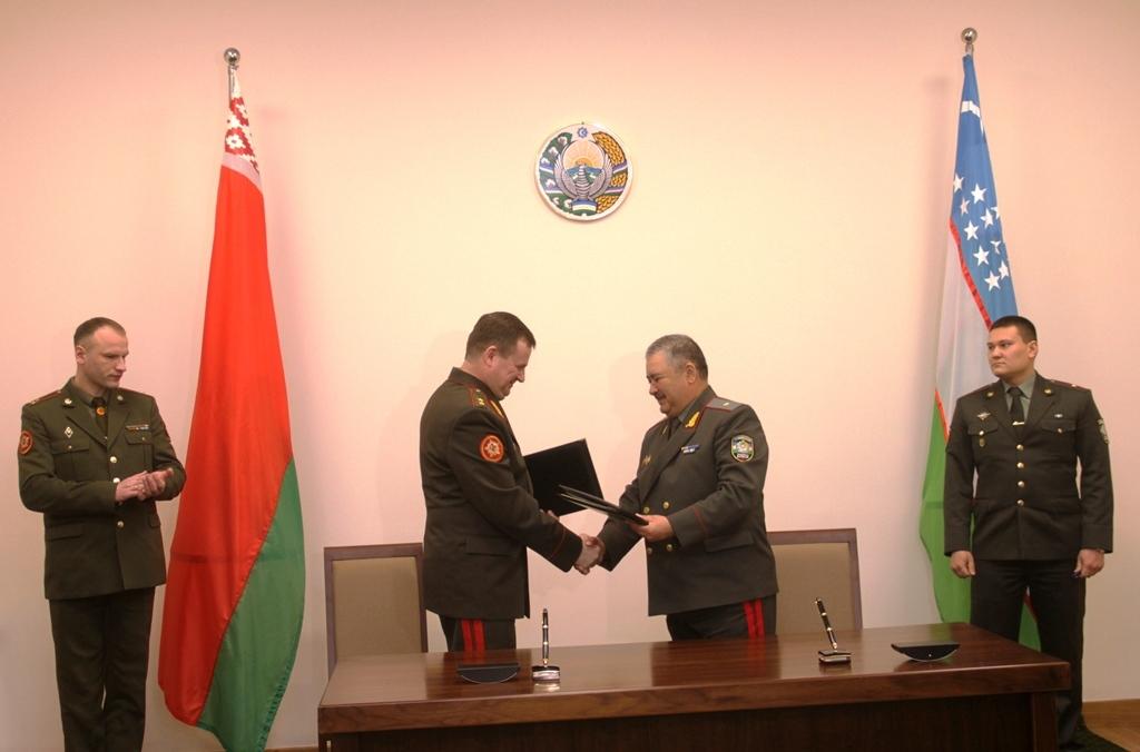 Военная делегация республики Беларусь посетила Узбекистан