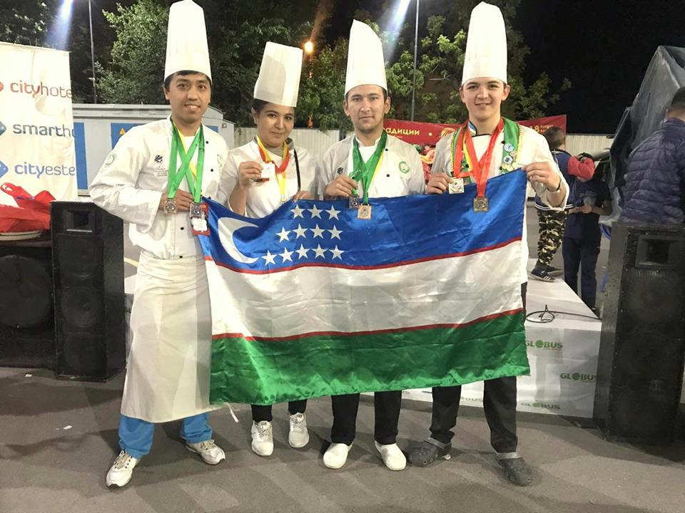 Команда Ассоциации поваров Узбекистана заняла 1 место на Евразийском Кулинарном фестивале «Казан-мангал» в Бишкеке