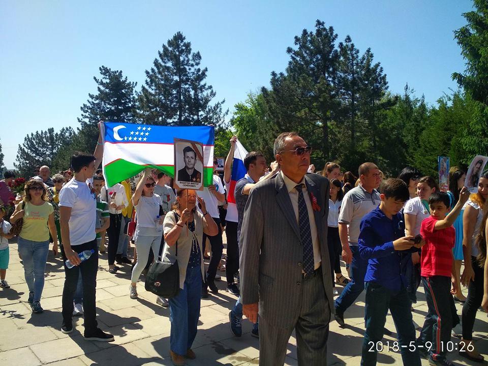 """""""Бессмертный полк"""" в Ташкенте: как это было"""