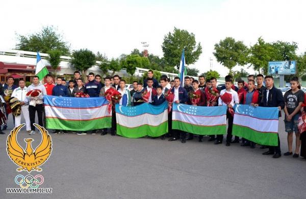 В Ташкенте встретили дзюдоистов, завоевавших на чемпионате Азии 24 медали