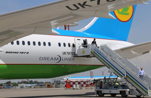 «Узбекистон хаво йуллари» получила третий Dreamliner