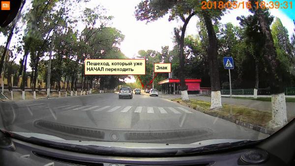 Полный игнор: пожилого мужчину ташкентские водители упорно не пропускали на зебре (видео)