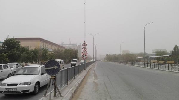 Соляная буря накрыла северные регионы Узбекистана (фото)