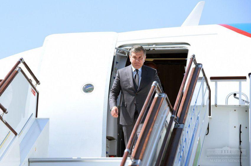 Шавкат Мирзиёев прибыл в Фергану