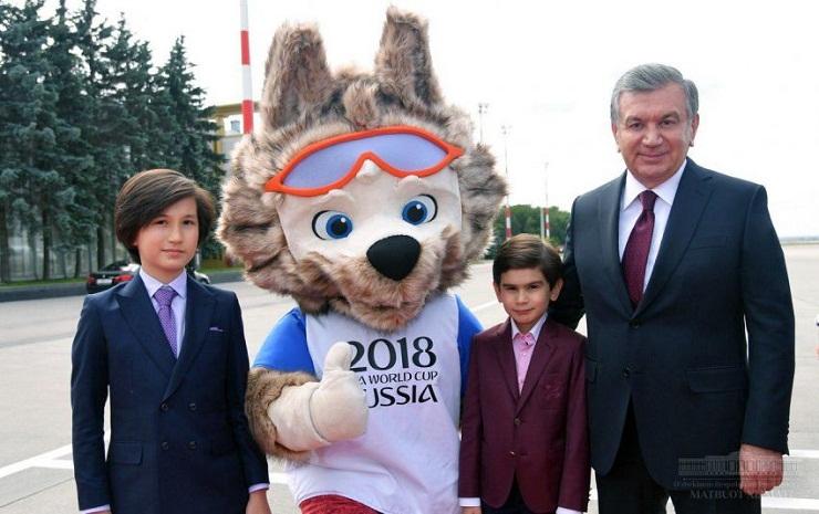 В Москве Шавката Мирзиёева поприветствовал Волк Забивака