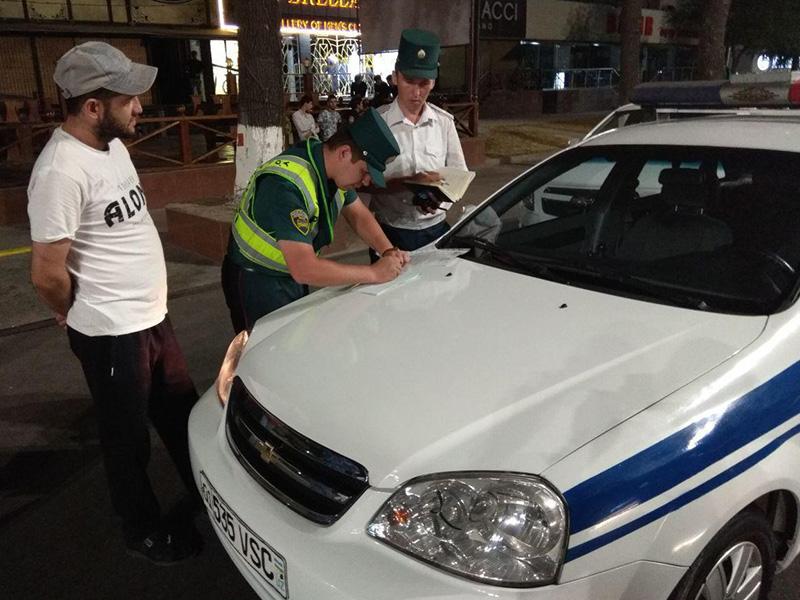 В Ташкенте за одну ночь зафиксировано 362 нарушения ПДД