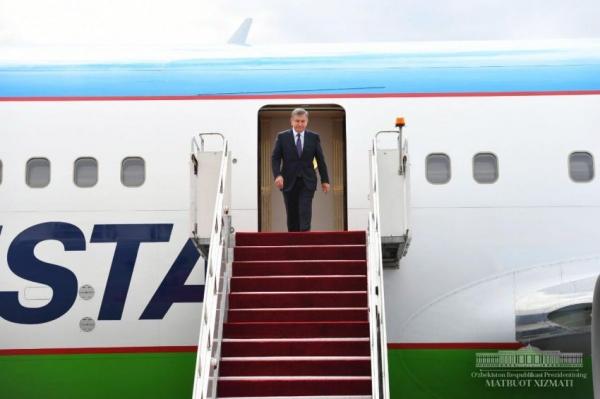 Шавкат Мирзиёев прибыл в Астану на празднование Дня столицы Казахстана