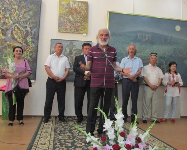 В Самарканде открылась персональная выставка художника, академика Аслиддина Исаева