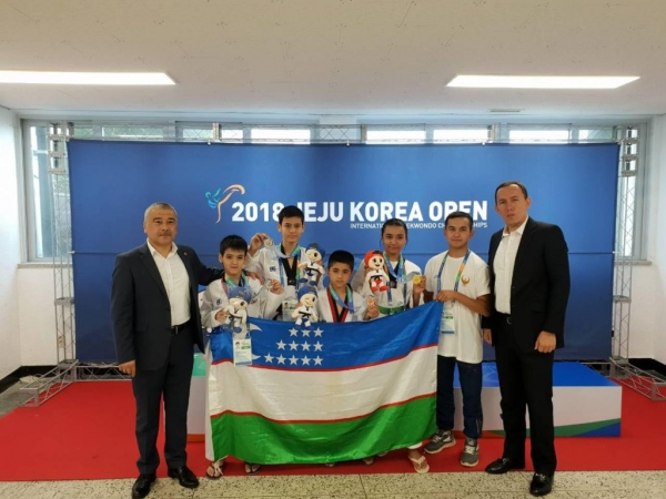 Сборная по таэквондо привезла с международного турнира в Корее 22 медали