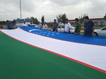 Хокимият Намангана сменил танк на флаг