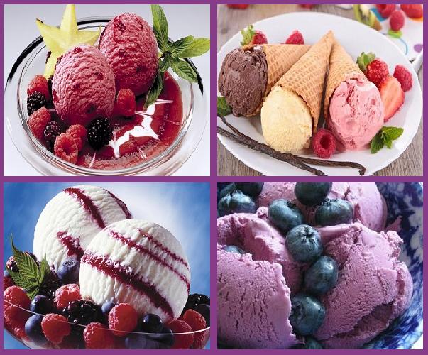 Ягодой уложенное «винное» мороженное