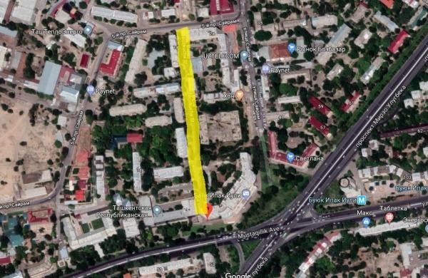 В Ташкенте открыли выезд на улицу Буюк Ипак Йули