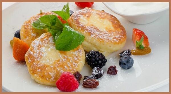 К завтраку роскошные сырники творожные…