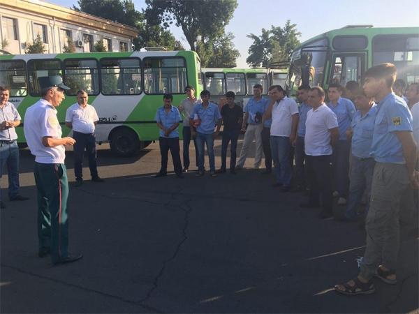 УБДД Ташкента занялось водителями общественного транспорта