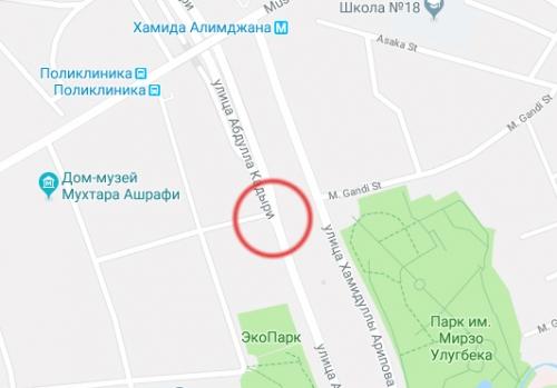 На перекрестке, где погибла Фарангиз Реджаметова, установлены светофоры