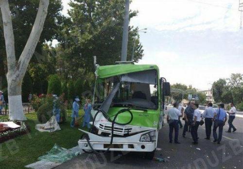 Стала известна причина аварии с участием автобуса в центре столицы