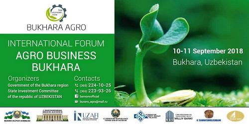 В Бухаре пройдет Международный форум «Агро Бизнес Бухара»