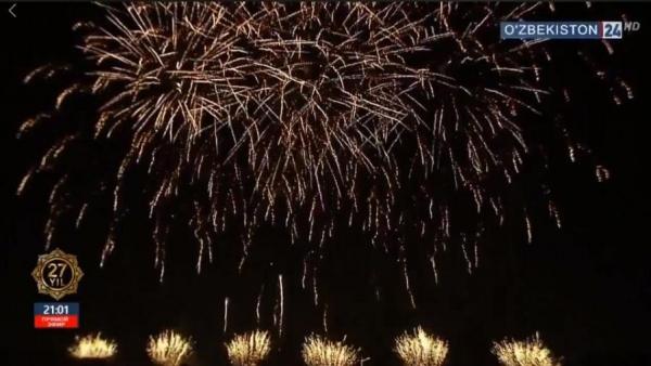Это было грандиозно: в Ташкенте прошел праздничный салют в честь 27-летия Независимости Узбекистана