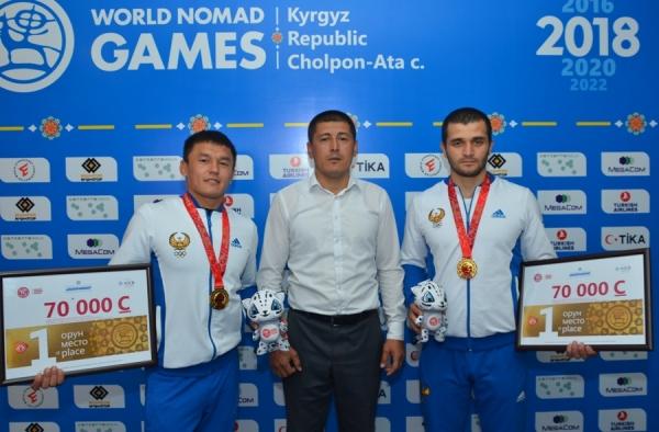 Всемирные игры кочевников: в состязаниях по курашу борцы принесли Узбекистану два золота