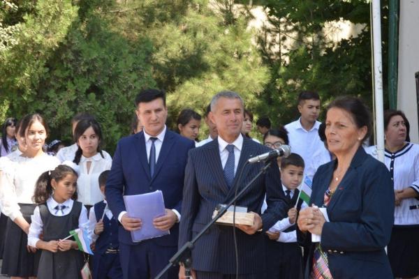 Самаркандской школе присвоено имя французского ученого Люсьена Керена