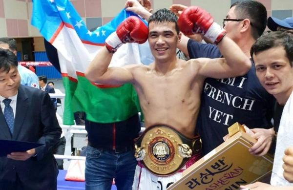 Боксер Хусниддин Пулатов стал обладателем пояса WBA Asia