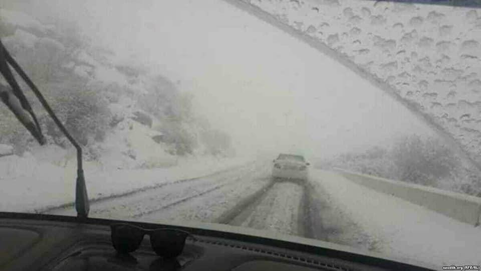 В Узбекистане выпал первый снег (фото)
