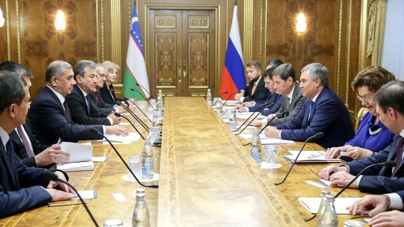 Володин предложил депутатам Узбекистана стать наблюдателями на заседаниях Парламентской ассамблеи ОДКБ