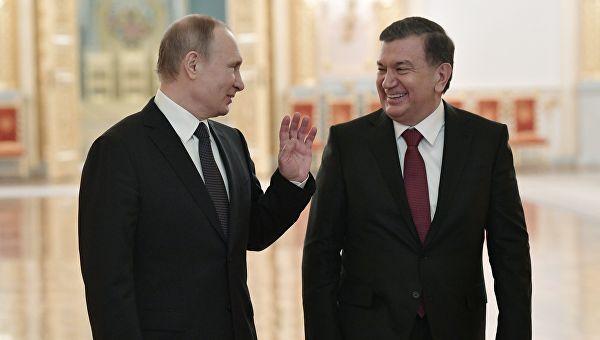 Мирзиёев и Путин обменялись поздравлениями  с наступающим Новым годом