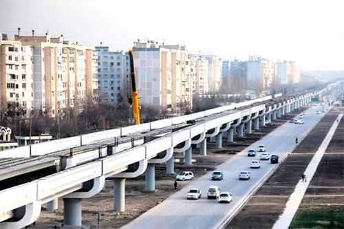 Внесены коррективы в строительство эстакадного метро в Ташкенте