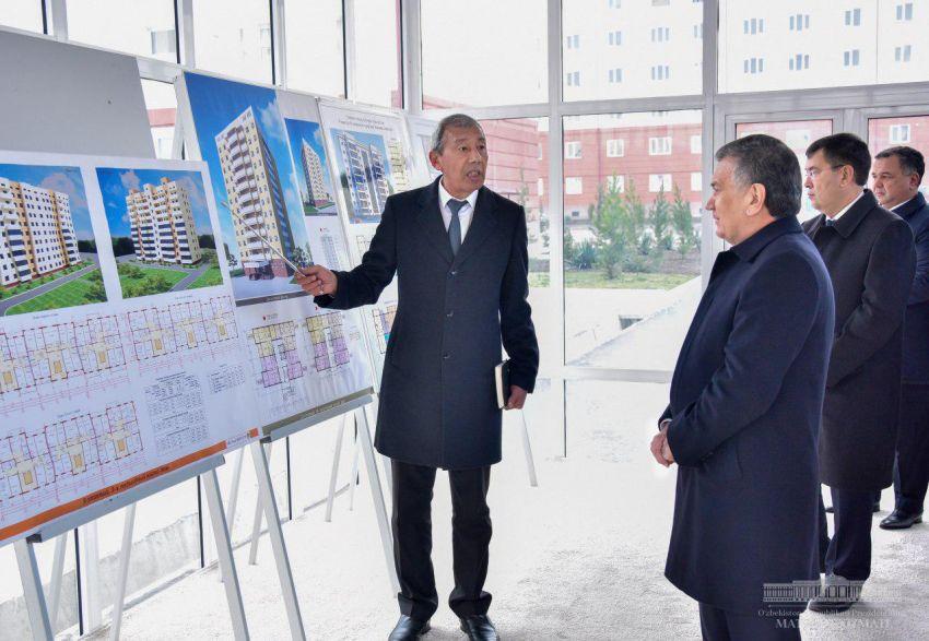 Шавкат Мирзиёев посетил современный жилой комплекс в Самарканде
