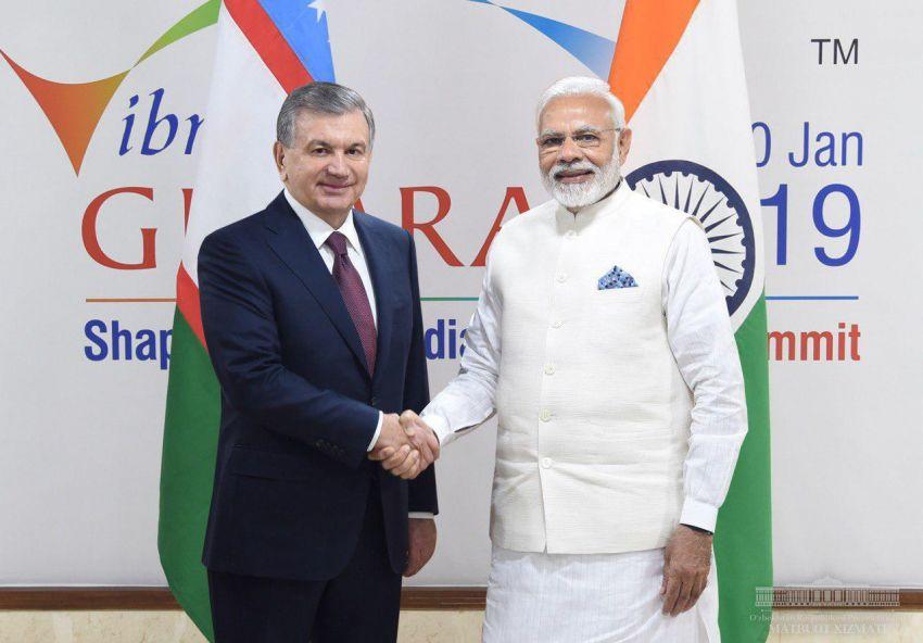Президент Узбекистана встретился с Премьер-министром Индии