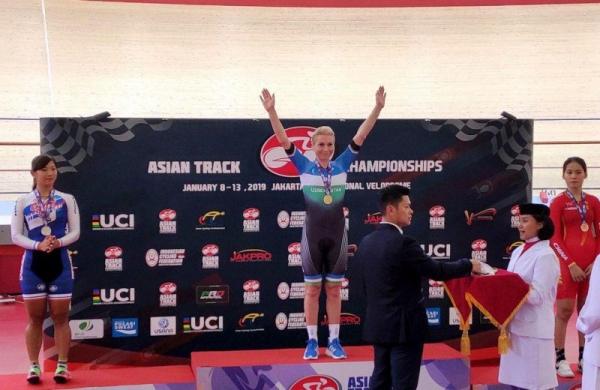 Ольга Забелинская заняла первое место на чемпионате Азии по велоспорту