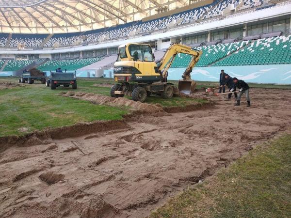 На ташкентском стадионе «Миллий» началась полная замена газона