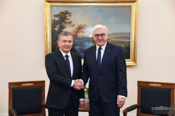 В Берлине начались переговоры Президентов Узбекистана и Германии (фото)