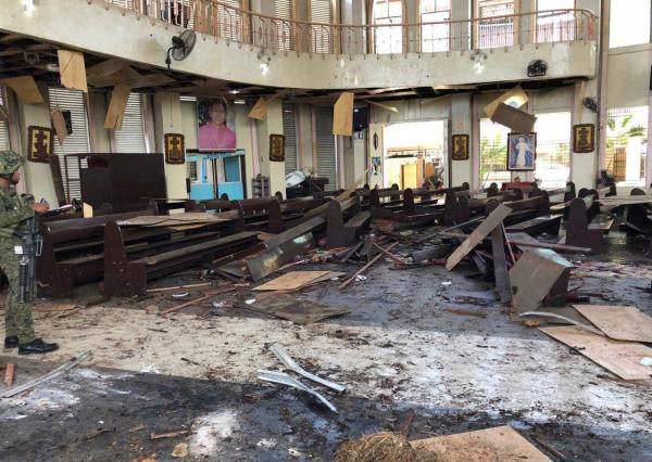 Двойной теракт в филиппинской провинции Сулу