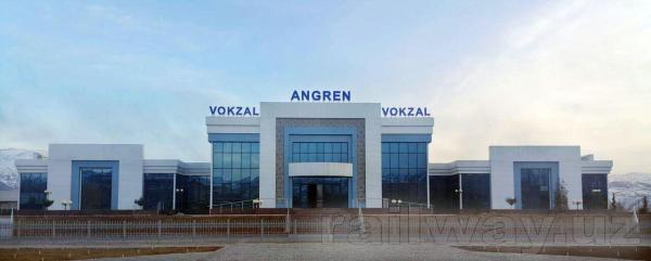 В Ангрене построено новое здание железнодорожного вокзала