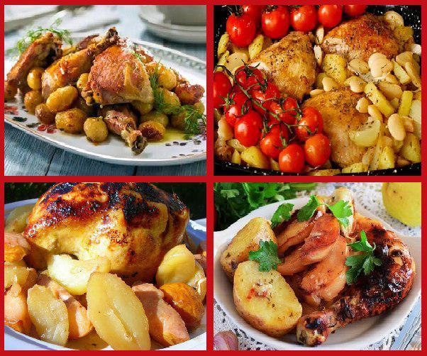 Айву, бедро с куриной ножкой в духовке запечём с картошкой