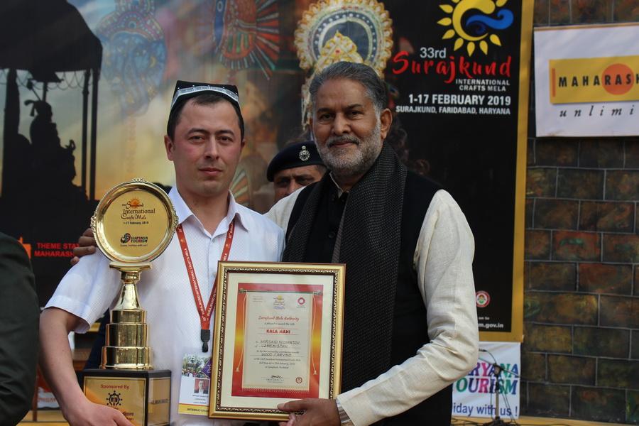Ассоциация «Хунарманд» получила награду фестиваля ремесленных изделий Индии