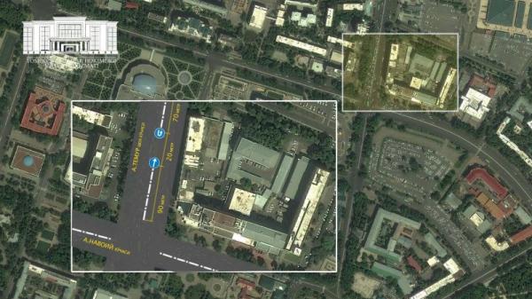 На улице Амира Темура в Ташкенте открыто дополнительное место для разворота транспорта