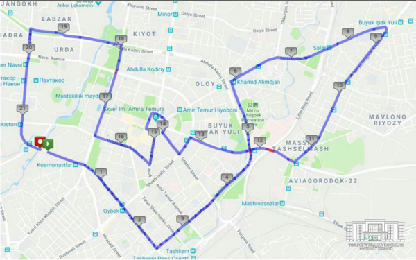 В Ташкенте впервые состоится полумарафон: опубликована карта маршрута