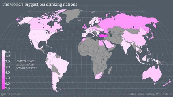 Кто в мире больше всех пьет чай?