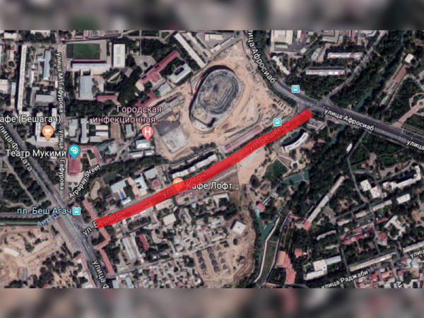 Дорога по улице Бешагач будет закрыта до конца марта
