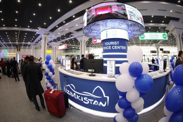 В Международном аэропорту Ташкента открылся первый информационно-туристический центр
