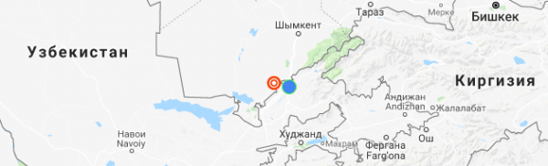Ночью Узбекистан потрясло