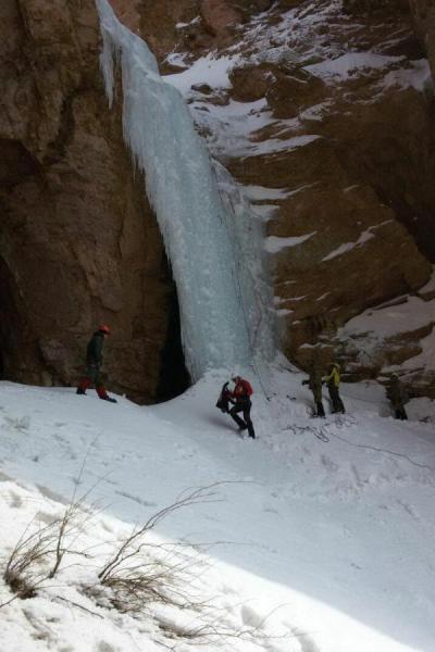 В Узбекистане прошел открытый чемпионат страны по ледолазанию