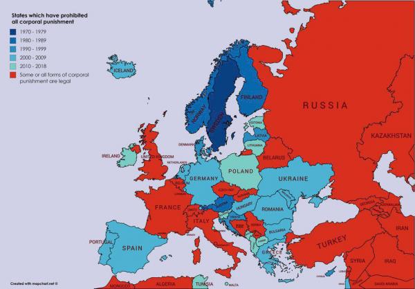 Легально ли бить детей? В России, Беларуси, Франции, Италии и Швейцарии (везде с оговорками, конечно же) - пока да