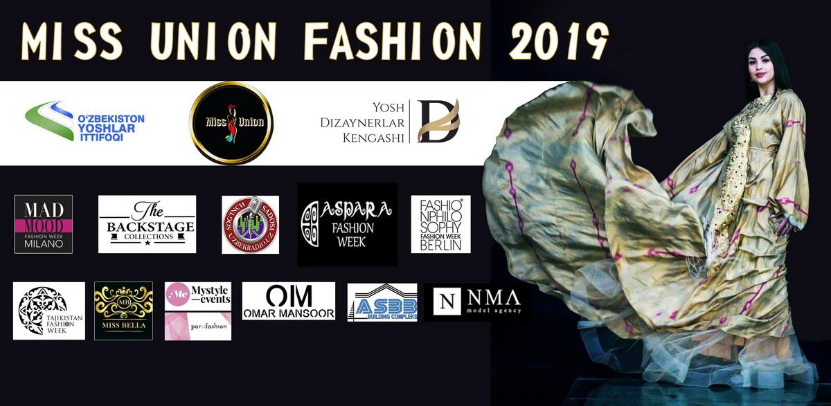 В Ташкенте пройдет IV международный конкурс Miss Union Fashion 2019. В числе партнеров именитые бренды
