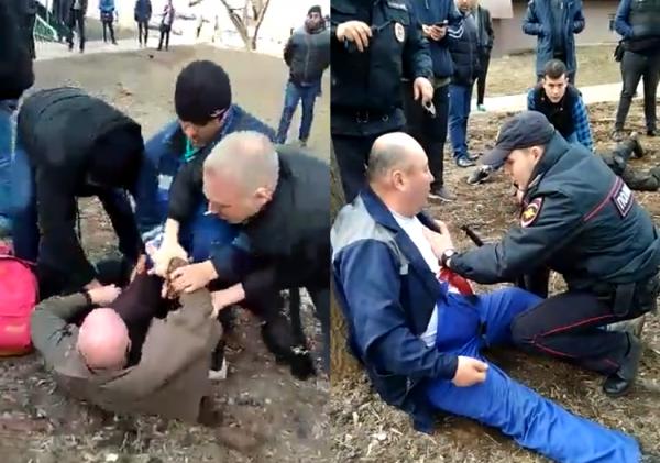 """В Москве мигранты поймали скинхеда-убийцу, нападавшего с ножом на """"нерусских"""""""